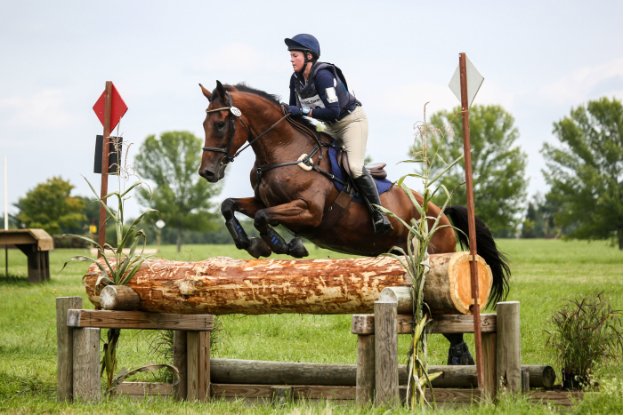 A photo of Marisa Healy jumping a horse